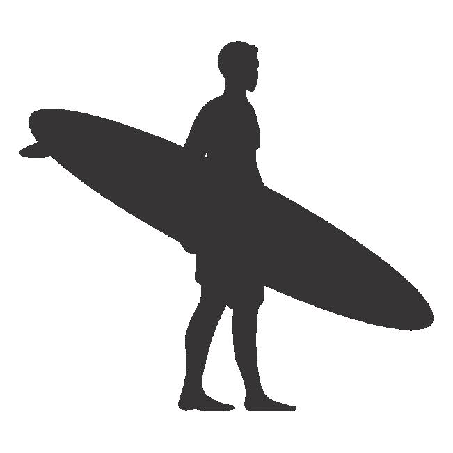 Aparador Com Pés Em X ~ Surfista com Prancha Pura Arte Adesivos