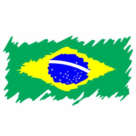 Bandeira Brasil Rasgada