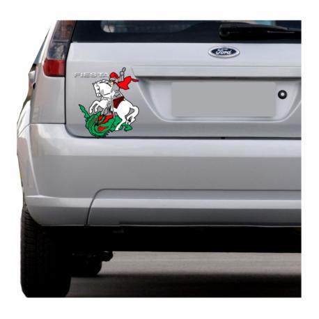 adesivo são jorge colorido para carro-hilux-caminhao-jeep-pura arte adesivos