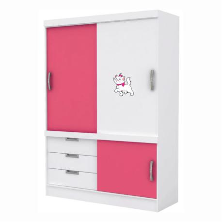 gatinha marie desfilando-adesivo de móveis-vitrine-geladeira-menina-mundo rosa-pura arte adesivos