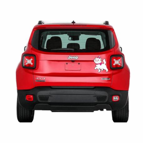 gatinha marie desfilando-adesivo para carro-jeep-hilux-toyota-menina-mundo rosa-pura arte adesivos