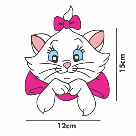 gatinha marie perfil-adesivo 15×12 para carro-porta-menina-mundo rosa-pura arte adesivos