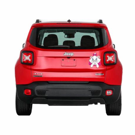 gatinha marie perfil-adesivo para carro-jeep-hilux-toyota-menina-mundo rosa-pura arte adesivos