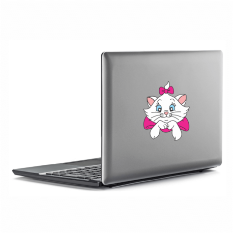 gatinha marie perfil-adesivo para notebook-macbook-menina-mundo rosa-pura arte adesivos