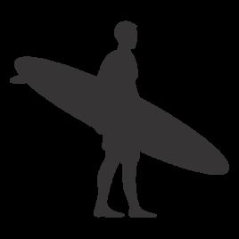 Surfista com Prancha