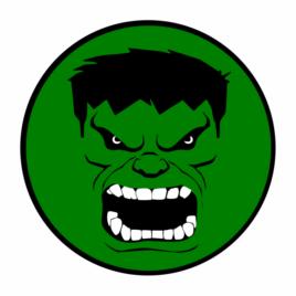 Incrível Hulk – Adesivo Redondo