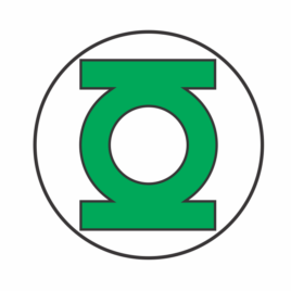 Lanterna Verde – Adesivo Redondo