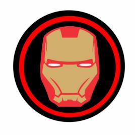 Homem de Ferro – Adesivo redondo