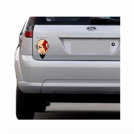 kratos adesivo personalizado carro