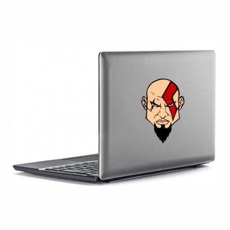 kratos adesivo personalizado notebook