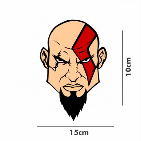 kratos adesivo personalizado tamanho