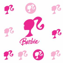 Adesivos Barbie  Kit 10 Unidades