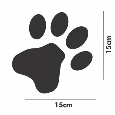 patinha preta-adesivo 15×15-para carro-moto-paredes-gato-cachorro-animais-pura arte adesivos