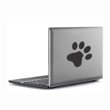 patinha preta-adesivo para notebook-macbook-gato-dog-animais-pura arte adesivos