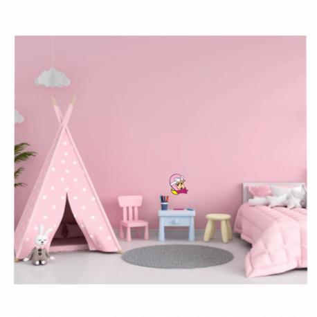 adesivo penélope perfil-de paredes-home office-meu cantinho-mundo rosa-pura arte adesivos