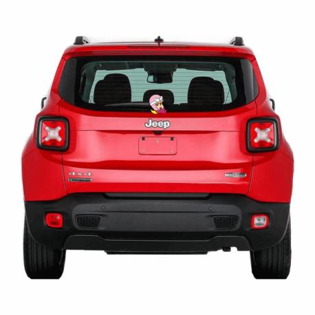 adesivo penélope perfil-para carro-hilux-jeep-toyota-menina-mundo rosa-pura arte adesivos