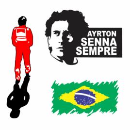 Ayrton Senna – Kit com 03 Adesivos