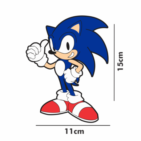 adesivo sonic the Hedgehog-11×15-sticker decorativos-on line-gamer-geek-pura arte adesivos