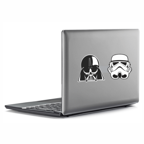 adesivo guerra nas estrelas kit-4un-star wars-para notebook-macbook-geek-nerd-gamer-pura arte adesivos
