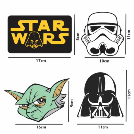adesivo guerra nas estrelas kit-4un-star wars-sticker decorativos-geek-nerd-gamer-pura arte adesivos