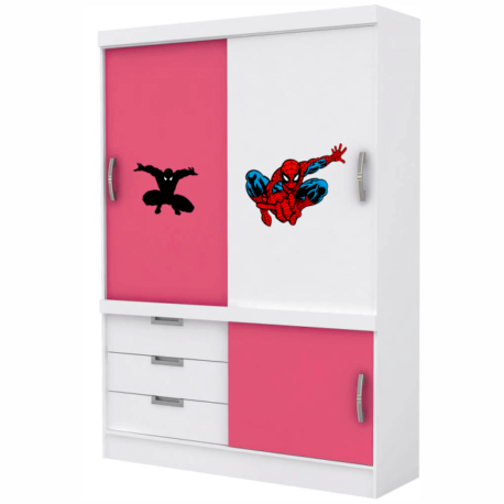 adesivo homem aranha kit 4un-de móveis-porta-janela-spiderman-geek-nerd-gamer-marvel-pura arte adesivos
