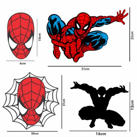adesivo homem aranha kit 4un-sticker decorativos-spiderman-geek-nerd-gamer-marvel-pura arte adesivos