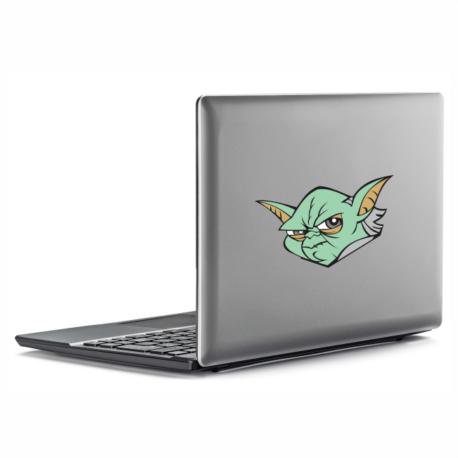 adesivo mestre yoda-guerra nas estrelas-star wars-para notebook-macbook-geek-nerd-gamer-pura arte adesivos