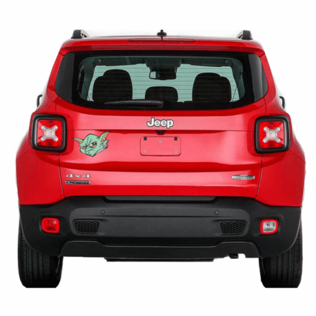 adesivo mestre yoda-guerra nas estrelas-star wars-sticker de carro-jeep-hilux-jac-geek-nerd-gamer-pura arte adesivos