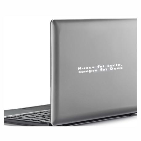 adesivo nunca foi sorte sempre foi deus-religioso-para notebook-macbook-oração-pura arte adesivos