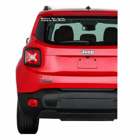 adesivo nunca foi sorte sempre foi deus-religioso-parabrisa de carro-hilux-jeep-oração-pura arte adesivos