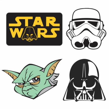 adesivo personalizado guerra nas estrelas kit-4un-star wars-decorativos-geek-nerd-gamer-pura arte adesivos