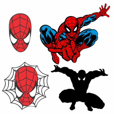 adesivo personalizado homem aranha kit 4un-sticker-spiderman-geek-nerd-gamer-marvel-pura arte adesivos
