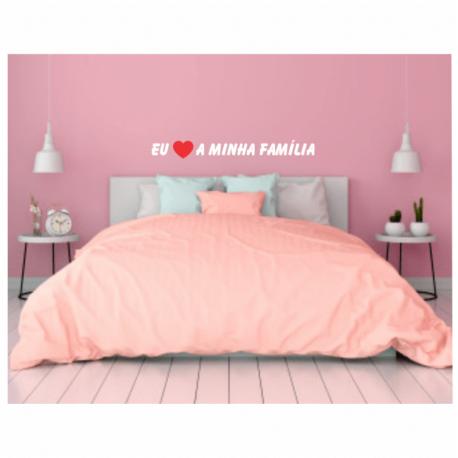 adesivo eu amo a minha familia-mensagem-gg-de home office-quarto rosa-religioso-oração-pura arte adesivos
