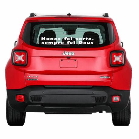 adesivo nunca foi sorte sempre foi deus-mensagem gg-religioso-parabrisa de carro-hilux-jeep-oração-pura arte adesivos