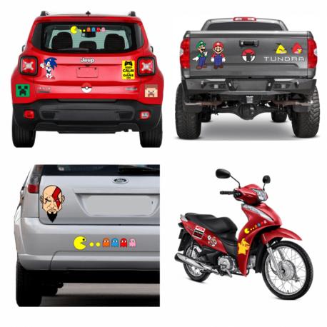 adesivos gamer-kit 22un-sticker geek-nerd-on line-jogos-para carro-moto-biz-capacete-pura arte adesivos