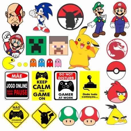 adesivos para gamer kit-geek-nerd-girlgamer-carro-moto-pura arte adesivos