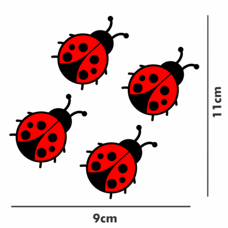 adesivo joaninha vermelha enfeite-9×11-sticker decorativo-natureza-inseto-pura arte adesivos