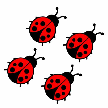 adesivo personalizado joaninha vermelha enfeite-sticker decorativo-natureza-inseto-pura arte adesivos