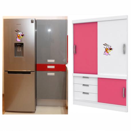 adesivo coragem o cão covarde-de geladeira-móveis-desenhos-anos 90-geek-nerd-gamer-pura arte adesivos