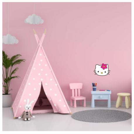 adesivo hello kitty perfil-de paredes-quarto rosa-balé-ballet-girl-kid-de menina-geek-pura arte adesivos