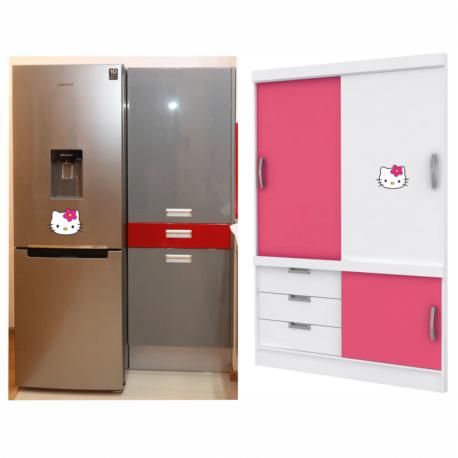 adesivo hello kitty perfil-para geladeira-móveis-balé-ballet-girl-kid-nerd-de menina-geek-pura arte adesivos