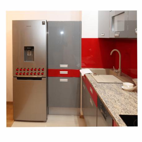 adesivo joaninha vermelha-kit 16un-de geladeira-cozinha decorada-natureza-inseto-enfeite-pura arte adesivos