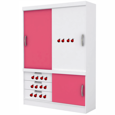 adesivo joaninha vermelha-kit 16un-decoração de móveis-porta-natureza-inseto-enfeite-pura arte adesivos