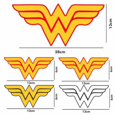 adesivo mulher maravilha-decorativos-kit-dc-marvel-heróis-meninas-girl-geek-nerd-gamer-pura arte adesivos