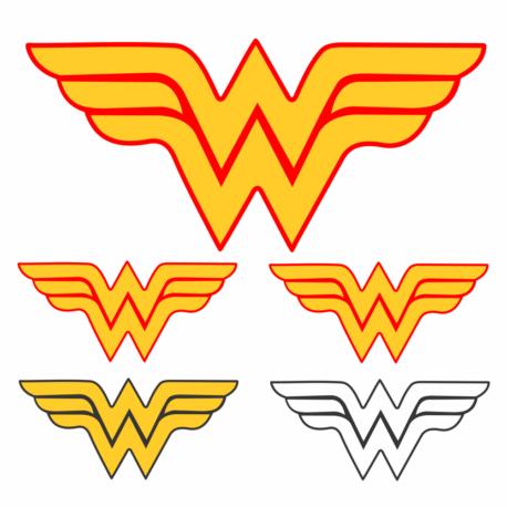 adesivo mulher maravilha-kit 5un-dc-marvel-heróis-meninas-girl-geek-nerd-gamer-pura arte adesivos