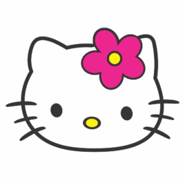 Adesivo Hello Kitty Perfil
